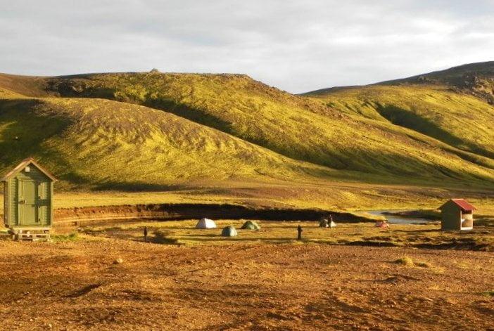 Islanda, sul Laugavegur: campeggio sul lago