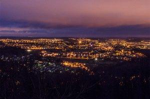 Lumières de nuit sur la vallée du Doubs