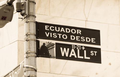 Ecuador visto desde Wall Street