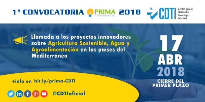 Banner Convocatoria PRIMA 2018