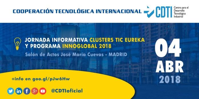 Jornada sobre Cluster EUREKA y el programa INNOGLOBAL