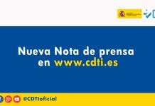 Nota de prensa CDTI