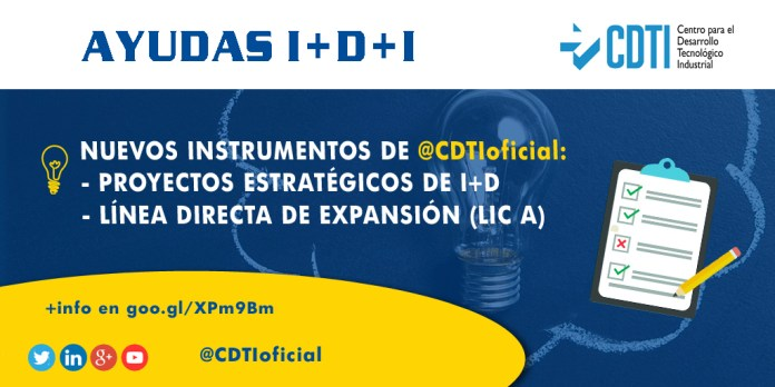 Nuevos instrumentos de @CDTIoficial