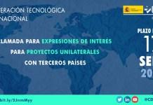 Llamada expresiones de interés proyectos unilaterales con terceros países