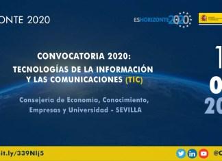 jornadas convocatoria h2020 en el ámbito tic en sevilla