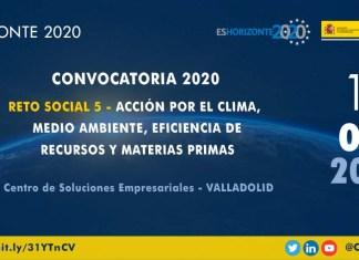 Jornada sobre el reto social 5 de Horizonte 2020 en Valladolid