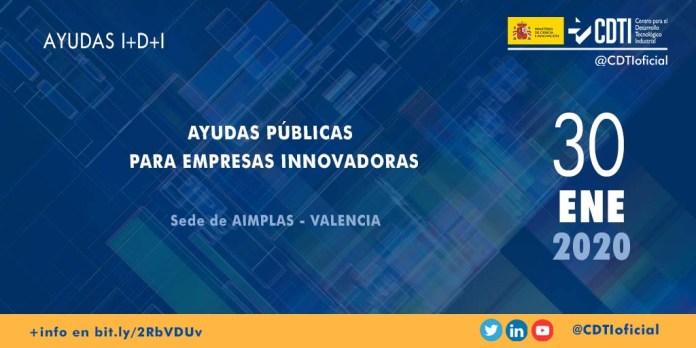 presentación ayudas CDTI aimplas Valencia