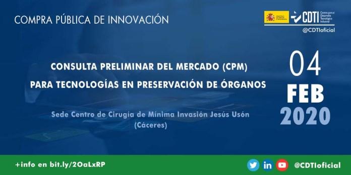 Presentación de la jornada sobre Compra Pública de Innovación en Cáceres