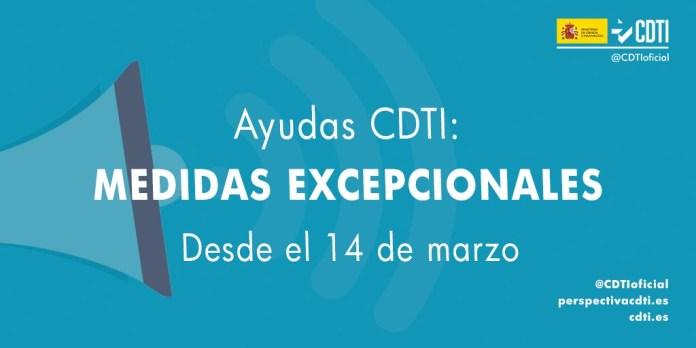 ayudas CDTI - medidas excepcionales