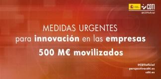 medidas urgentes innovación