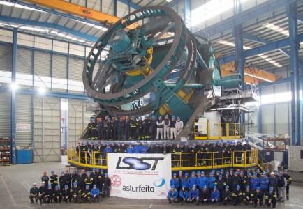 Estructura principal del Large Scale Synoptic Telescope, llevado a cabo por Ghesa y Asturfeito (crédito Asturfeito)
