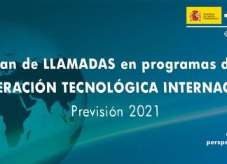 plan llamadas de programas de cooperación tecnológica internacional