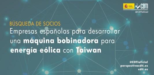Búsqueda de empresas españolas para desarrollar una máquina bobinadora para energía eólica con Taiwán