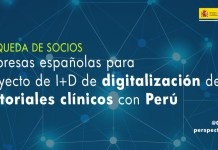 búsqueda de socios proyecto de digitalización de historiales médicos con Perú