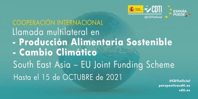 llamada multilateral sea en cambio climatico y produccion alimentaria sostenible