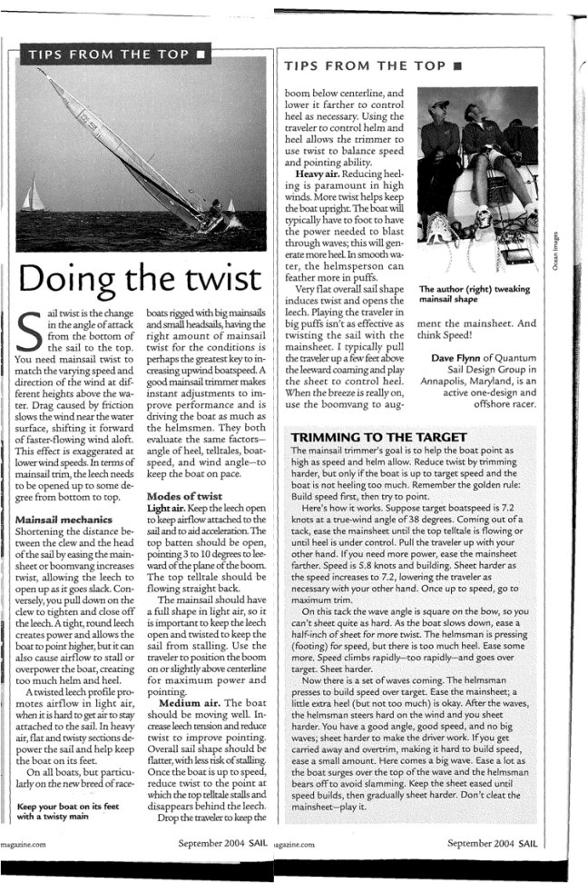 Sail Trim Article