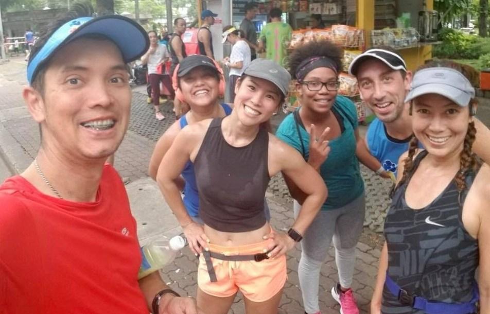 Running in Lumpini Park