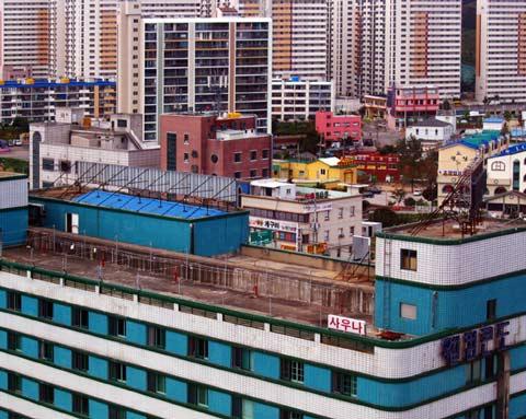 Sokcho, Provinz Kangwon-Do, Häuserblick