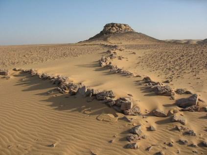 Ancient game trap at Gharb Aswan