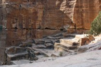 Jordan (Petra): old sandstone quarry