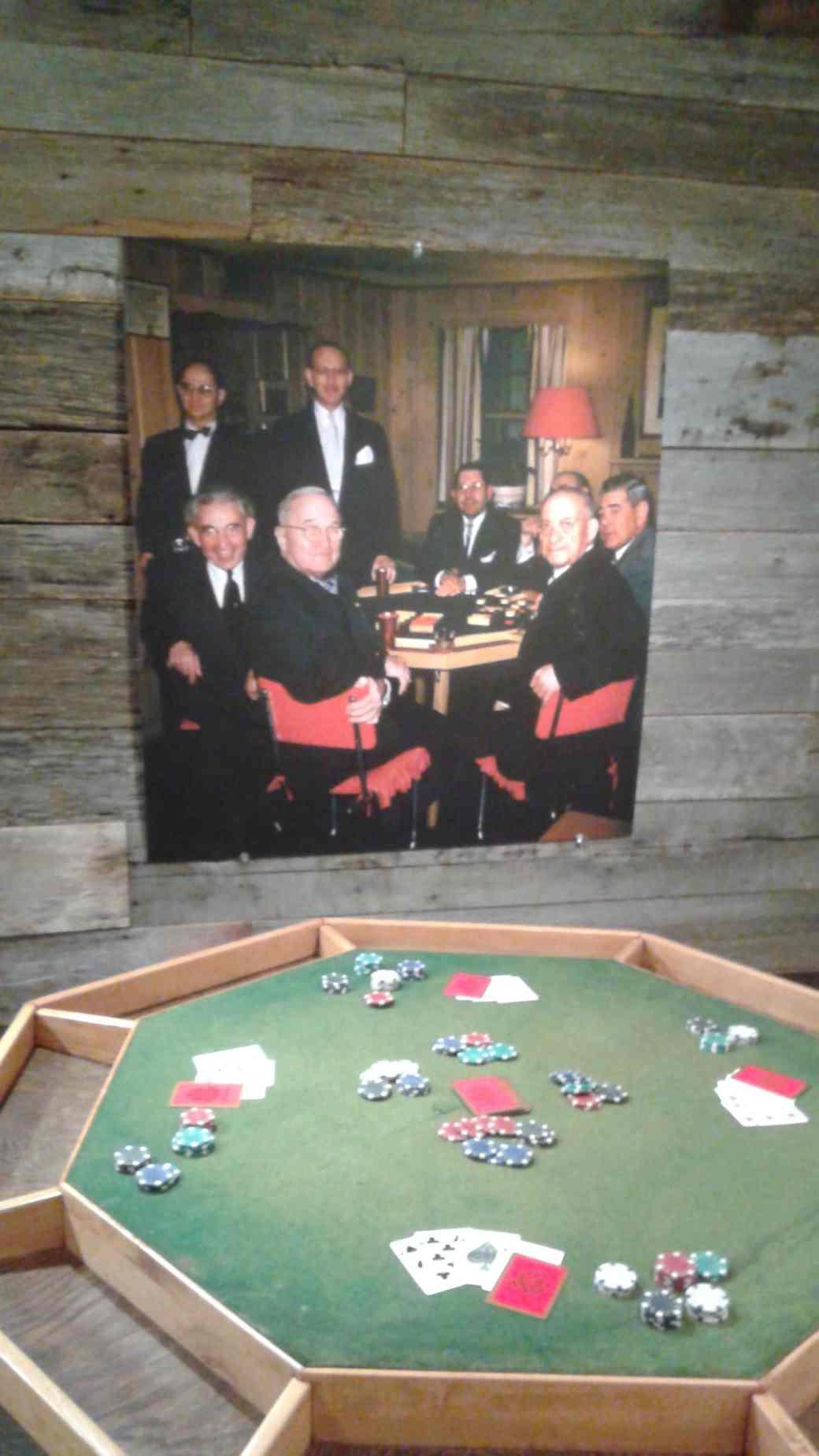 Truman Plays Cards