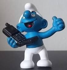 smurf on the phone