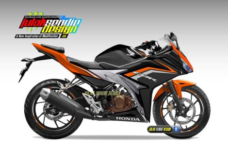 All New Honda CBR150R 2016 Orange pertamax7.com