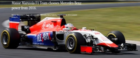 manor marussia F1 ream Mercedes