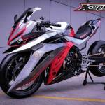 tampak samping Honda CBR500R Dragsport Advance