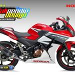 Kala Honda CBR150R K45 ber Livery All new CBR150R 2016 Red Champion
