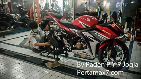 pasang ban pirelli angel city ke all new honda CBR150R 2016 di ahass
