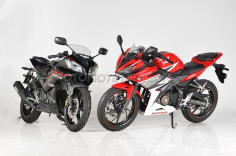 Yamaha R15 Vs ALl new honda CBR150R depan samping
