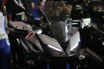 Launching Yamaha MT-09 Tracer di booth Yamaha di Indonesia International Motor Show (IIMS) 2016