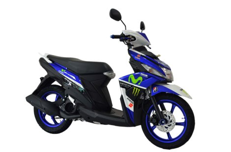 Modifikasi Yamaha Mio M3 Movistar Custom Cargloss painting Shop Pertamax7.com