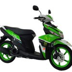 Modifikasi Yamaha Mio M3 hijau putih movistar Custom Cargloss painting Shop Pertamax7.com