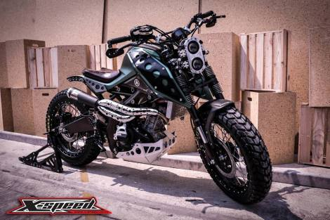 Modifikasi Yamaha Xabre Scrambler Concept Buntung Ala Minor Fighter 12 Pertamax7.com
