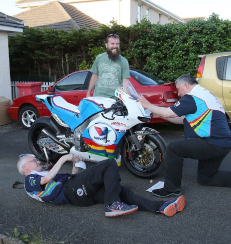Debut Bruce Anstey Honda RC213V-s Isle Of Man TT 2016