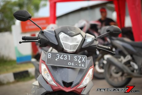 tampak depan  all new honda supra gtr 150
