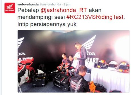 Journalist Riding Test Honda RC213V-S Sentul