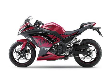 Kawasaki Ninja 250 FI Striping 2017 Facelift