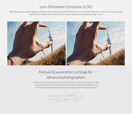 lens distrortion correction XIAOYI YI 4K pertamax7.com