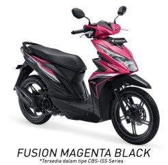 Warna All New Honda BeAT 110 eSP 2016 pink Fusin Magenta Black Pertamax7.com