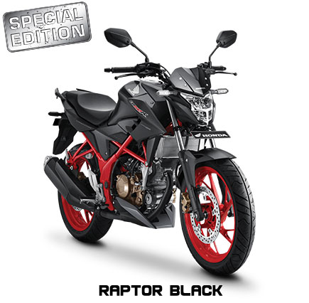 All New Honda CB150R Streetfire Special Edition Raptor Black Pertamax7.com