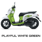 Honda Scoopy 12 inchi playful green scoopy new 2017 trans