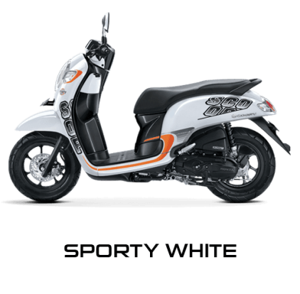 Honda Scoopy 12 inchi sporty white scoopy new 2017 trans