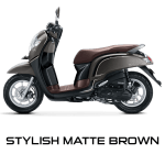 Honda Scoopy 12 inchi stylish brown scoopy new 2017 trans