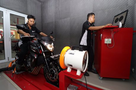 Dynotest Moge Honda CB650F di Dealer Big Wing Banjarmasin
