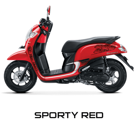 sporty red scoopy new 2017 trans