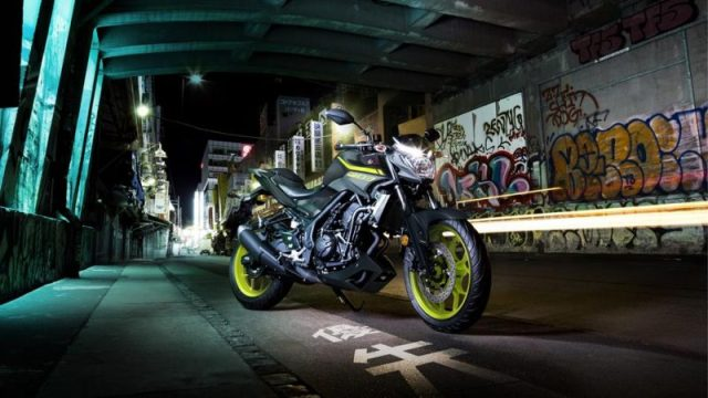 Testride Yamaha MT-03 Warna Hijau Stabilo Night Fluo MY 2018 UK 6
