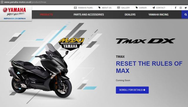 Yamaha New TMAX DX Indonesia MAXI